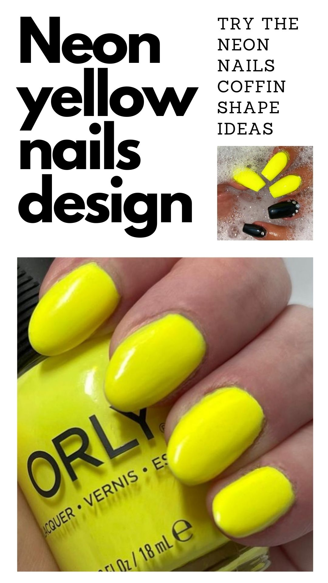 Neon yellow nails   Neon Yellow Nails and Ideas for falls 2021