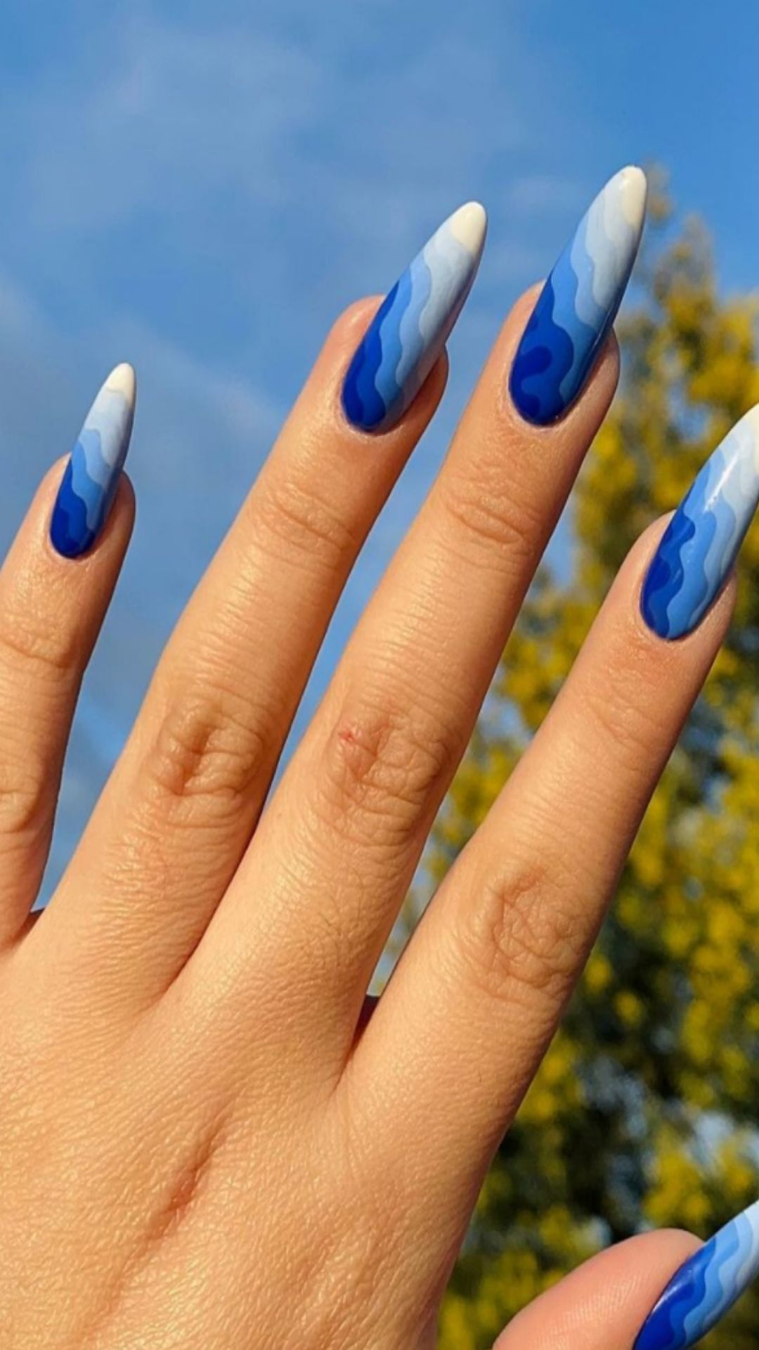 30 Stunning Blue nails aesthetic for a Bold and Beautiful Look